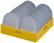 Tellerkorb Kunststoff, gelb
