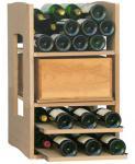 Cavispace Mix-Element mit 1 Holzregalkiste 2 Gleitregalen + 1 Abteil