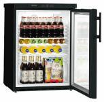 FKUv 1613-22  premium schwarz Glastürkühlschrank