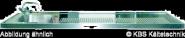 Schanktischabdeckung, Aufkantung, 1 Becken links 2100 x 700 mm