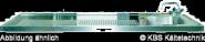 Schanktischabdeckung, Aufkantung, 1 Becken rechts 2100 x 700 mm
