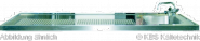 Schanktischabdeckung ,Wulstrand, 1 Becken rechts 2100 x 750 mm