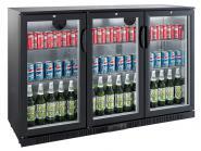Flaschenkühler, 330 Liter, 1350x520x900mm, 3 GLASTÜREN,
