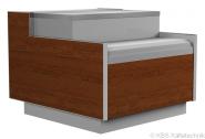 Kassentisch Kubus 600 ohne Seitenteile