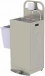 Mobiles Handwaschbecken mit Durchlauferhitzer
