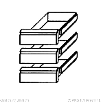 Kühltischschubladensatz 3 x 1/3 GN 1/1