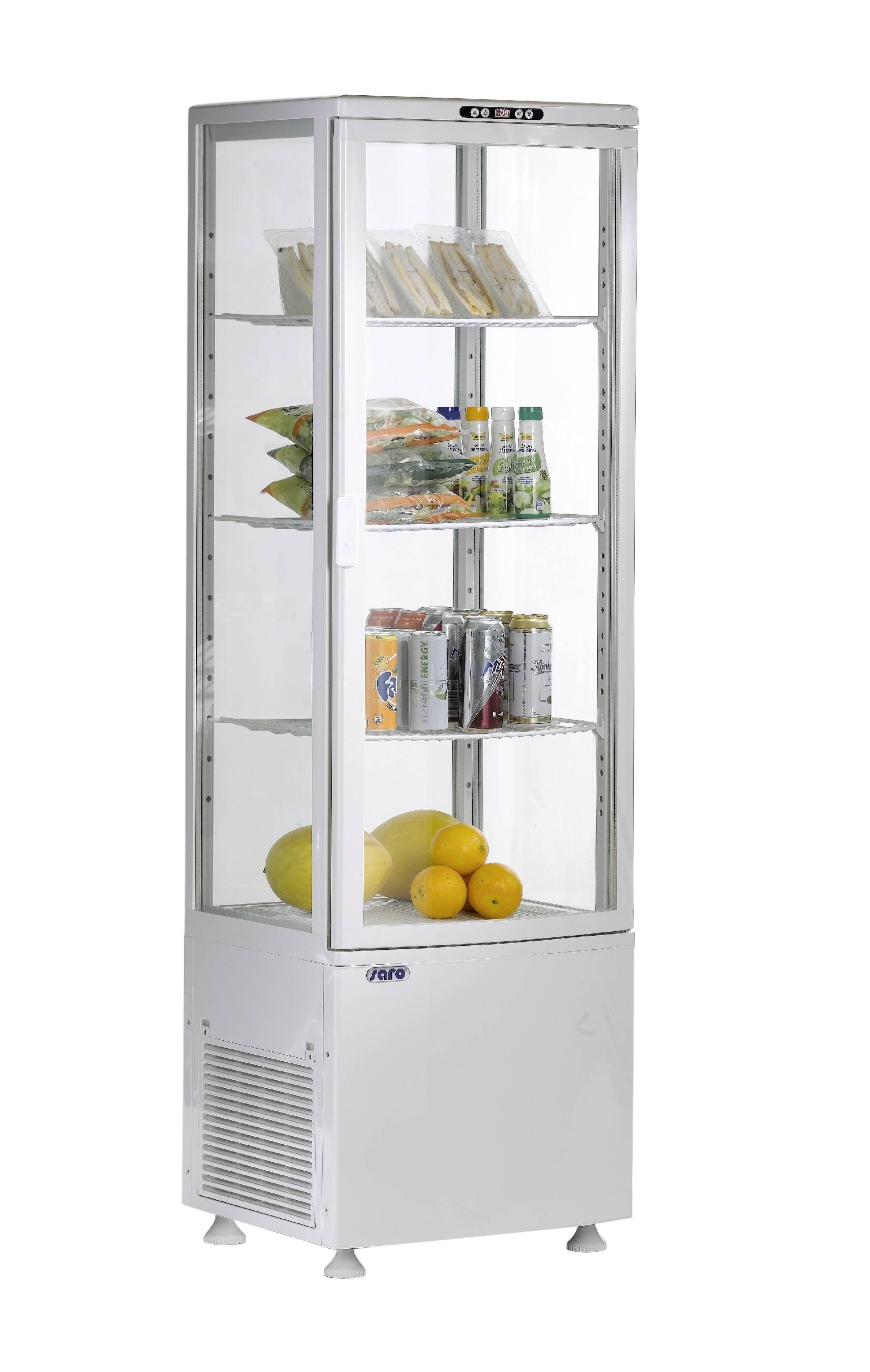 Umluftkühlvitrine Modell SVEN weiß