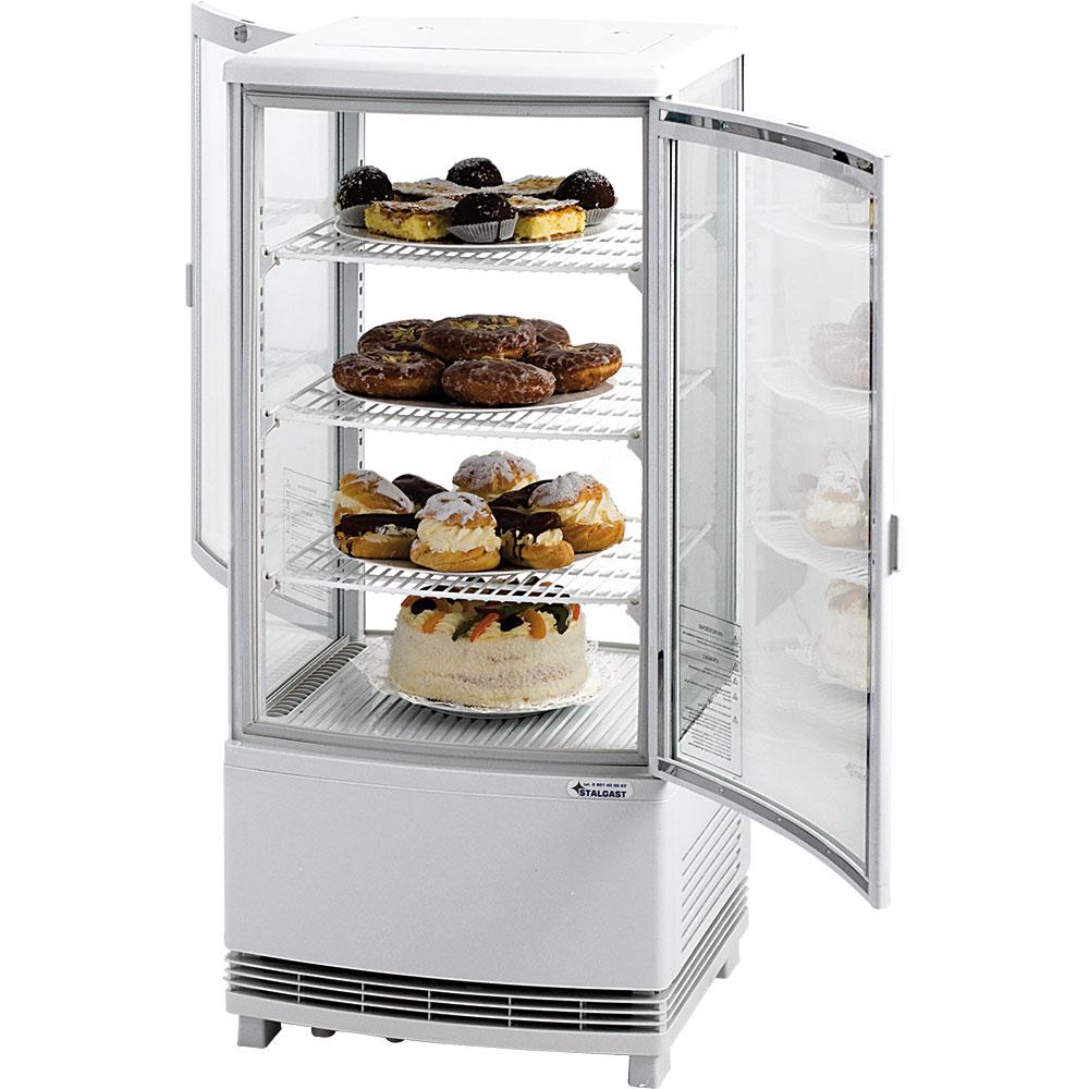 Kühlvitrine mit zwei Türen, 86 Liter, Abmessung 429 x 425 x 980 mm (BxTxH)