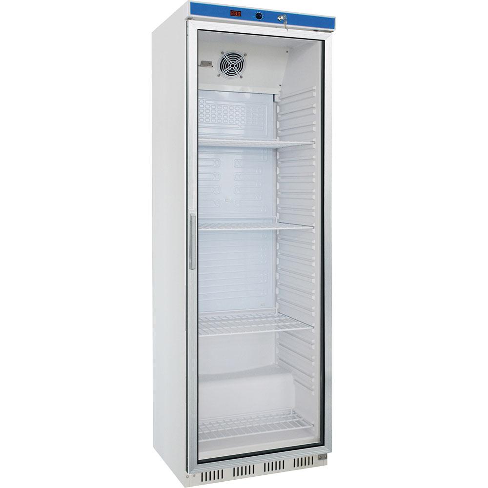 Kühlschrank mit Glastür, 400 Liter, Abmessung 600 x 600 x 1850 mm (BxTxH)