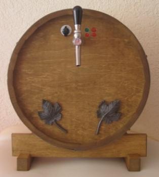 Glühweinzapfanlage 1-leitig 9 kW mit selbstansaugender Pumpe im Holzfass