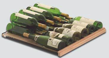Gleitregal für Standardflaschen für CAVISPACE  Weinkühlzelle