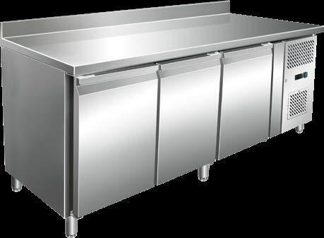 Backwaren-TiefkühlKühltisch aus Edelstahl 3 Türen KT3513625  2020x 800x 890 mm hoch -18 / -20C  230 v