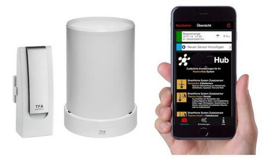 MediHub Smartphone Abruf der Temperatur Min/Max Thermometer