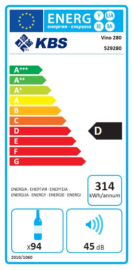 Vino 281 zwei Temperaturzonen Weinkühlschrank