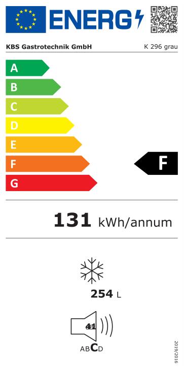 Volltürkühlschrank K 296 grau
