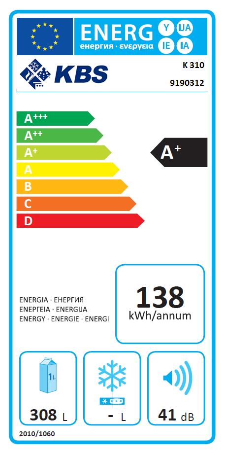 K 310  Schwarz Energiespar-Kühlschrank