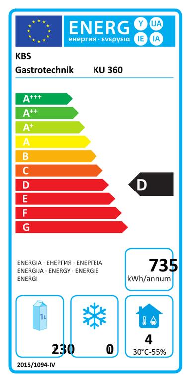 Volltürkühlschrank KU 360 weiß