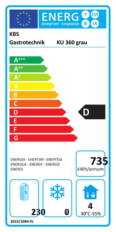 Volltürkühlschrank KU 360 grau