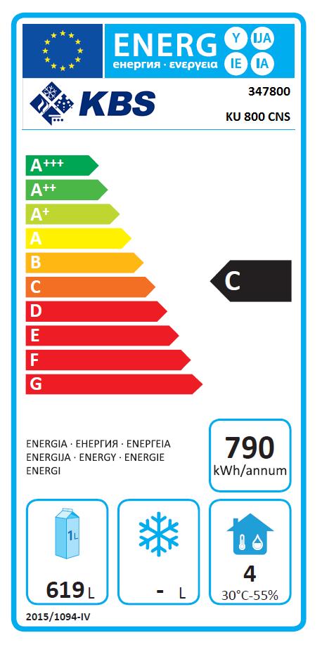 Kühlschrank EN Norm KU 800 CNS