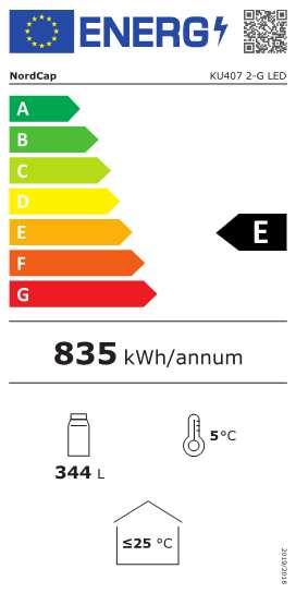 Gewerbekühlschrank KU 407 2-G LED